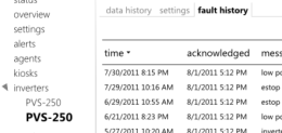 inverter fault history screenshot