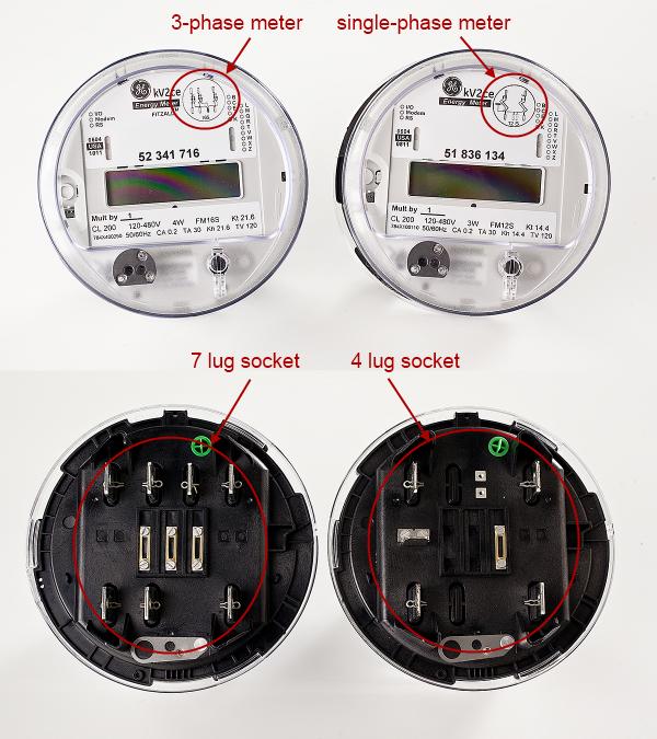 Single Phase Power Meter : Ge electric meter diagram smart meters elsavadorla