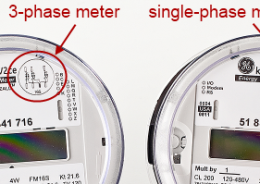ge kv2c with wattmetrics optical cable  single- vs  3-phase meter